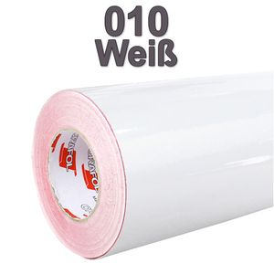 (3,48€/m²) Oracal® Möbelfolie 010 Weiß Glanz 63 cm Breite Laufmeterware selbstklebende Folie Plotterfolie Klebe Folie Oracal 621 glänzende Küchenfolie
