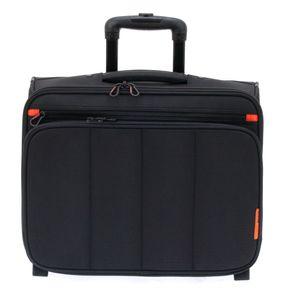 Trolley Laptop Pilotenkoffer Aktenkoffer 47 cm Schwarz Davidts