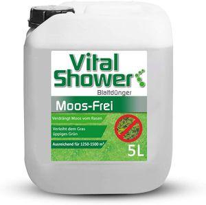 TerraDomi Vital Shower Moos Frei, 5 L, Rasendünger für bis zu 1500 m², Flüssigdünger für sattes & gleichmäßiges Grün, verdrängt Moos, Blattdünger