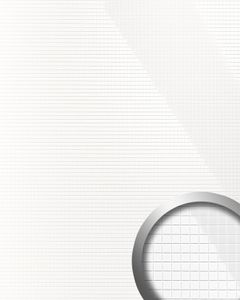 Wandverkleidung Nachbildungpaneel WallFace 13476 M-Style Design EyeCatch Einrichtungs selbstklebend lack-weiß glänzend 0,96 qm