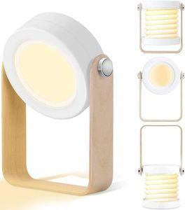 LED Nachttischlampe, SZSMD Nachtlicht Laterne Vintage Touch Dimmbar, Klappbare Tragbare Laternenlicht NachttischLeuchte Campinglampe für Schlafzimmer Wohnzimmer Camping