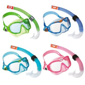 Aqua Lung Sport Combo Mix Schnorchelset für Kinder, Farbe:grün