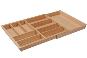 Besteckeinsatz Holz, Schublade 80-100 cm, Besteckkasten ausziehbar
