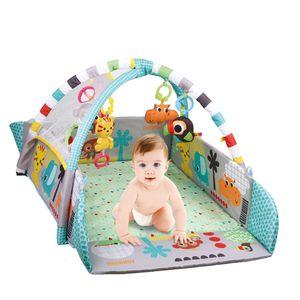 Baby Krabbeldecke Spielbogen 5 in 1 Erlebnisdecke Spieldecke Spielmatte Babygym mit 30 Bällen und Musik