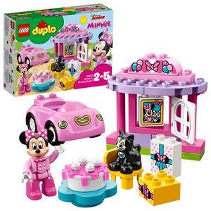 LEGO 10873 DUPLO Disney Minnies Geburtsparty, Spielzeug ab 2 Jahre, Lernspielzeug mit Bausteinen, Set mit Spielzeugauto, Minnie Mouse und Katze