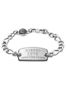 Diesel DX1129040 Herren Armband Edelstahl Silber 22 cm