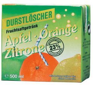 Durstlöscher Apfel Orange Zitrone fruchtig Tetra Pack 500ml 12er Pack