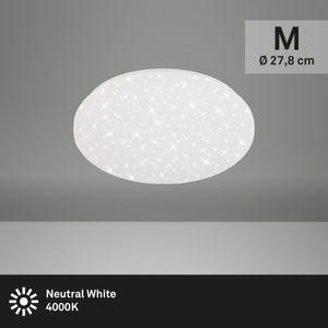 LED Deckenleuchte Sternenhimmel Kunststoff Weiß 12W neutralweißes Licht Ø27,8cm