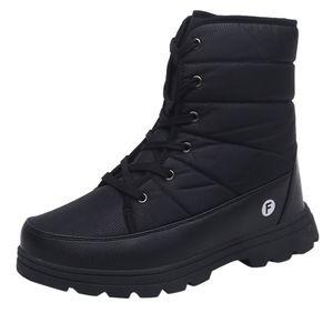 Damen Schneeschuhe Winter Knöchel Short Bootie Wasserdichte Schuhe Warme Schuhe Größe:38,Farbe:Schwarz