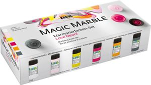 "KREUL Marmorierfarbe ""Magic Marble"" Set Love Neon! 6 Stück"