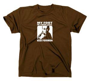 Styletex23 T-Shirt Die wilden Siebziger Red Forman, Braun, XL