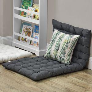 Bodenkissen 120x60cm Sitzkissen Kissen für Sitzecke Loungekissen Bodenmatratze ca 5 cm Dick Dunkelgrau