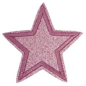 3 Stern-Aufbügler Aufnäher Applikationen Zierapplikation, Ø65mm, Farbe wählbar, Farbe:rosa