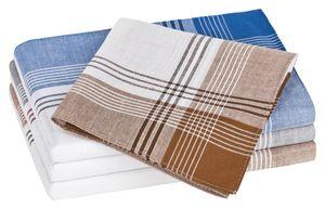 Tobeni 20 Herren Taschentücher Stofftaschentücher Herrentaschentücher gekämmte Baumwolle, Farbe:Design 26, Grösse:40 cm x 40 cm