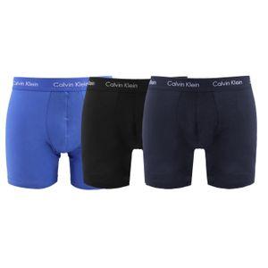 Calvin Klein Herren 3er-Pack aus Baumwoll-Stretch-Boxershorts, Blau L