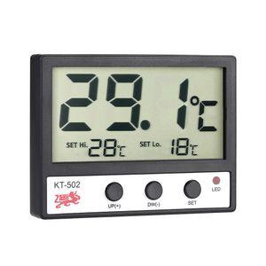 LCD-Digital-Fisch-Behälter-Aquarium-Thermometer Wassertemperaturmessgerät ° C / ° F Hoch / Niedrig-Temperatur-Alarm