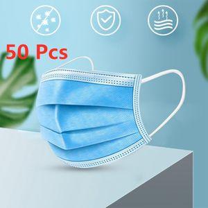 50 stk Einweg-Kindermaske 3-Lagig Kinder Gesichtsmaske Mit schmelzgeblasenem Tuch Mundschutz Schutzmaske