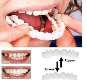 5 PAARE Von Simulation Der Oberen Und Unteren Zähne Zahnweiß-Sets Zwei Generationen Von Silikon-Simulation Von Zahnprothesen-Sets Snap on Smile