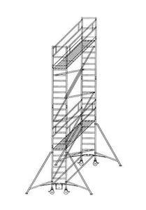 Günzburger Steigtechnik Rollgerüst 0,75x1,80 m Plattformhöhe 2,35 m