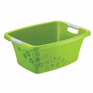 Rotho 175-6690000 FLOWERS Wäschewanne 25 Liter, 50,5 x 38,3 x 21,8 cm, grün