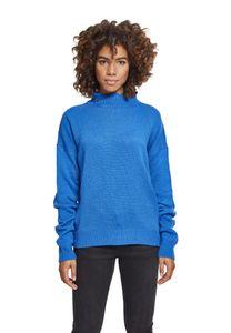 Urban Classics Ladies Oversize Turtleneck Sweater TB2358, color:brightblue, size:S
