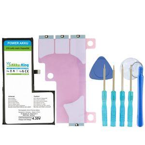Power-Akku kompatibel mit Apple iPhone X / 10 - Li-Polymer 2930mAh - mit Öffnungswerkzeug / Klebestreifen (210mAh mehr als beim Originalakku!)