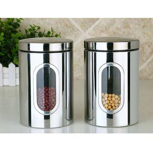 3 Stk Edelstahl Silber Müslispender Jeweils 1,57 Liter Cornflakes Spender Cerealienspender Doppelspender für Müsli Cerealien Süßigkeiten NEU