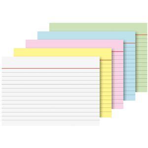 Brunnen linierte Karteikarten A7 5 Farben sortiert 100 Stück