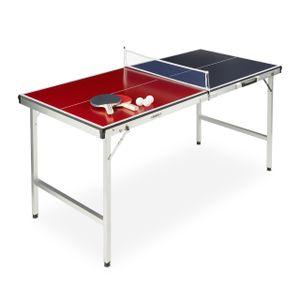 relaxdays Klappbare Tischtennisplatte mit Zubehör