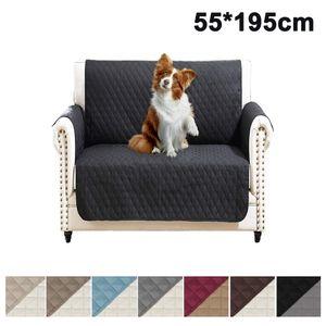Sesselschoner zweiseitiger Sesselüberwurf Sesselauflage Polsterschutz Sesselbzug - gesteppt  - Größe: 1-Sitzer ca. 191 x 55cm