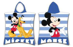 JF Bade-Poncho mit Kapuze Disney Mickey Maus Pluto, 50 x 115 cm, 100% Baumwolle