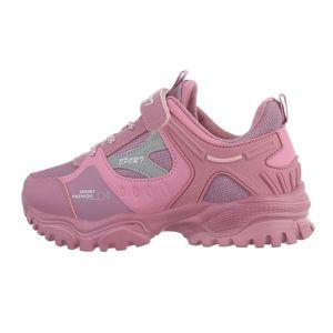 Ital-Design Damen Freizeitschuhe Sneakers Pink Gr.36