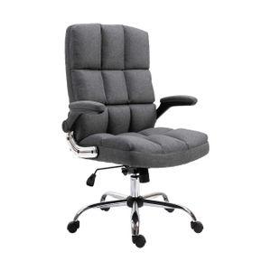 Bürostuhl MCW-J21, Chefsessel Drehstuhl Schreibtischstuhl, höhenverstellbar  Stoff/Textil dunkelgrau