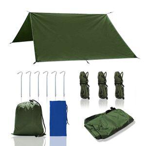 Sonnensegel 3x3M Camping Zelt Tarp Wasserdicht Tragbare Zeltplane Regenschutz