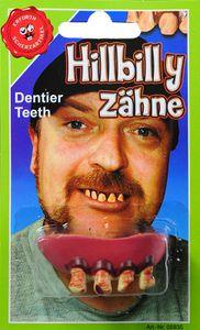 Kostüm Zubehör Hilly-Billy Zahngebiss Zähne Karneval Fasching