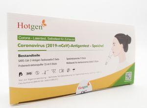 5er Pack Hotgen Spucktest Antigen Schnelltest (VPE 5 Stück)