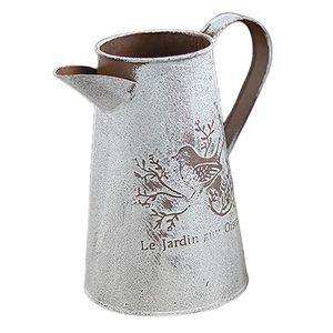 Retro Metall Gießkanne Vintage Ornamente Metall Handwerk Vase Hausgarten b Farbe B