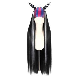 Danganronpa Kostüm Perücke Mina Yubuki Cosplay Perücken Anime Cosplay Perücken Hitzebeständige lange Cosplay Perücke