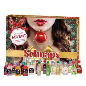 Schnaps-Adventskalender 2020 gefüllt mit verschiedenen Alkohol-Minis in heißer Verpackung, Likör-Kalender - Nur für Erwachsene
