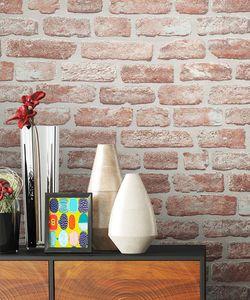 Steintapete Ziegelstein Rot Vlies Jung Modern Stein Modern Loft Industrial Mauer Stein  Elflake