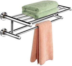 Meco Handtuchhalter Handtuchstange Handtuch Halter Badezimmer Ablage Wandmontage Edelstahl Badetuchhalter für Bad Küchen Toilette