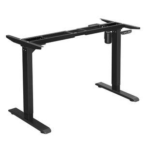SONGMICS Tischgestell, Schreibtischgestell, elektrischer Schreibtisch, Tischständer mit Motor, stufenlose Höhenverstellung, mit Speicherfunktion, Länge verstellbar, Stahl, schwarz LSD010B01