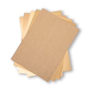 "Sizzix - Cardstock pack 8x11,5"" gold"