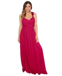 Damen Abendkleid Trägerkleid Chiffonkleid Lange Kleider Festlich