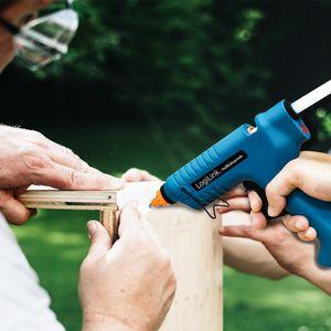LogiLink Heißklebepistole 80 Watt kabellos blau