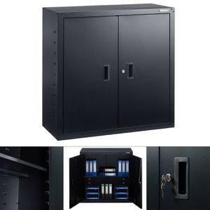 AREBOS Aktenschrank Büroschrank Lagerschrank Materialschrank Schwarz - direkt vom Hersteller