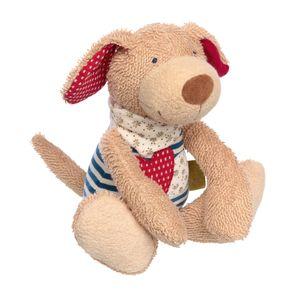 Sigikid Green Organic Spielfigur Hund, Kuscheltier, Kuschel Plüsch Tier, Stofftier, Schlenker, Baumwolle, Blau, 24 cm, 39053