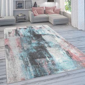 Designer-Teppich Für Wohnzimmer, Pastellfarben, Farbverläufe, Abstrakt In Bunt, Grösse:120x170 cm