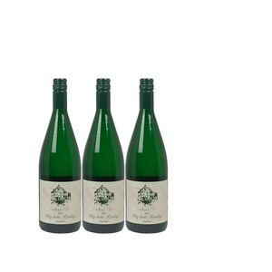 Weißwein Mosel Riesling Weingut Markus Burg Qualitätswein Big Bottle feinherb und vegan (3 x 1,0l)