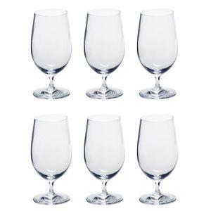 LEONARDO 061451 Ciao+ Biertulpe, Glas, 410ml, H 16cm, klar (6 Stück)